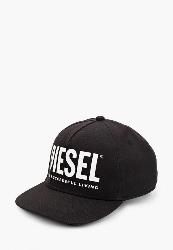 бейсболка diesel для мальчика, черная