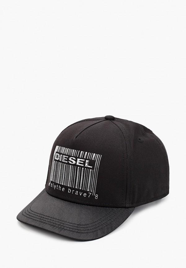 бейсболка diesel для девочки, черная