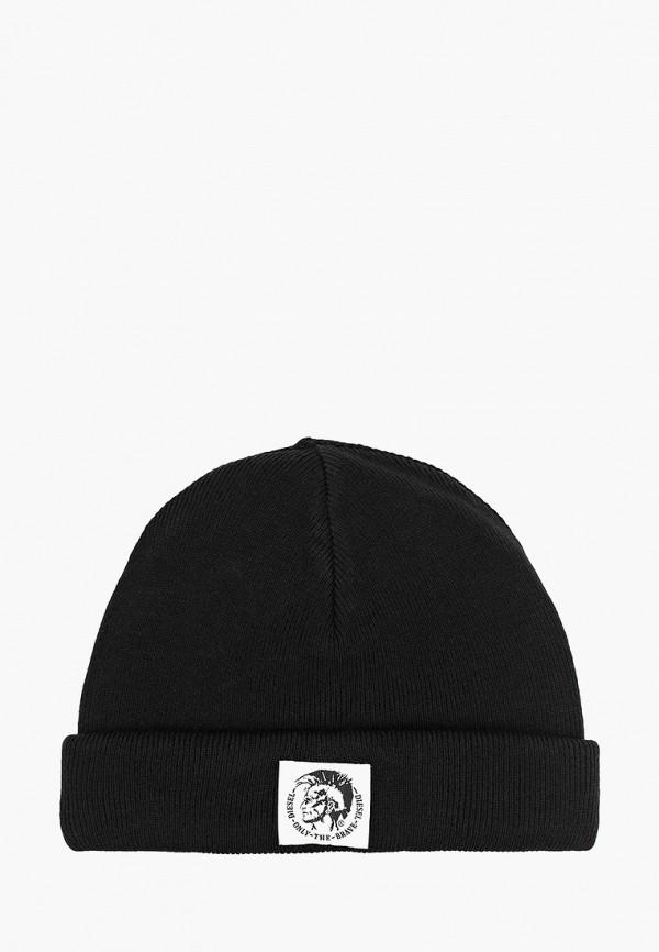 мужская шапка diesel, черная