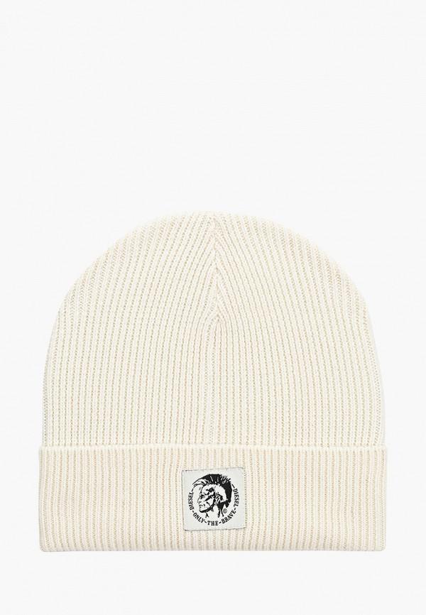 мужская шапка diesel, белая