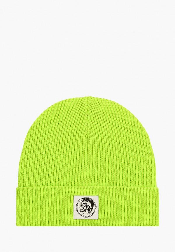мужская шапка diesel, зеленая