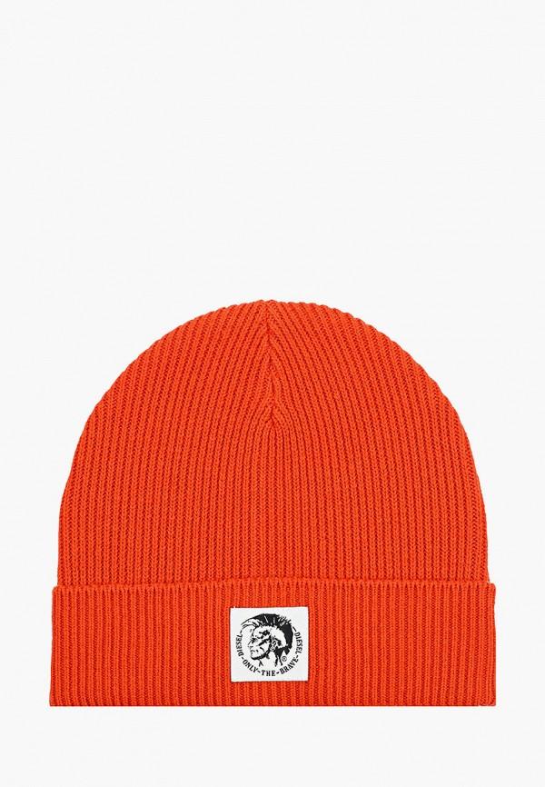мужская шапка diesel, оранжевая
