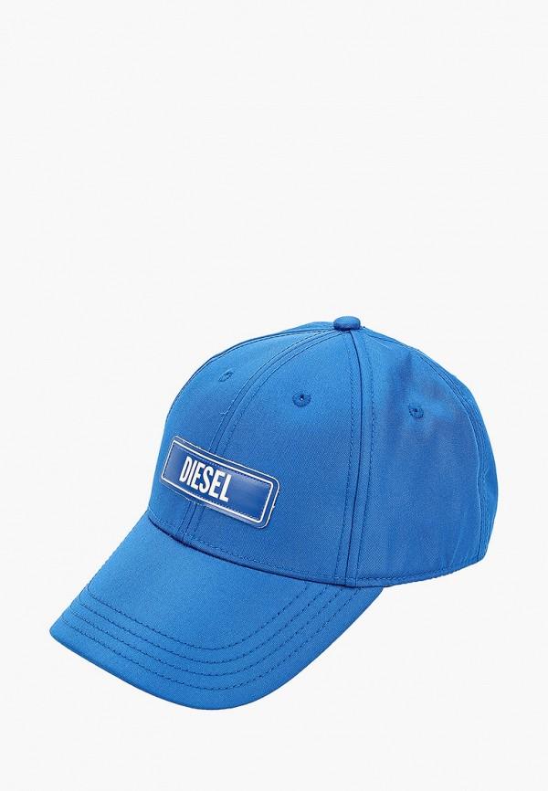 мужская бейсболка diesel, синяя