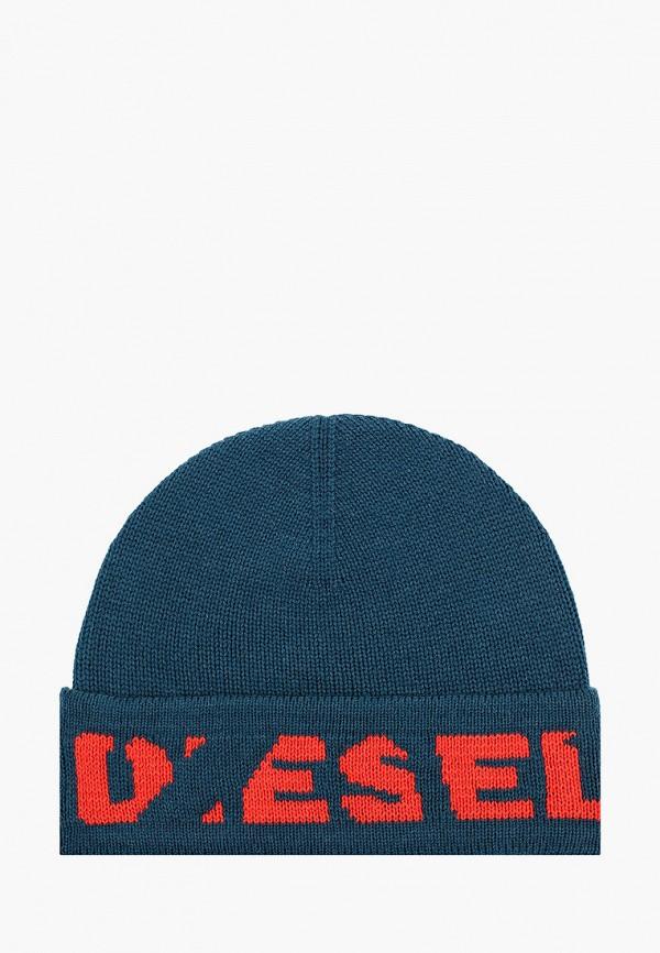 мужская шапка diesel, бирюзовая