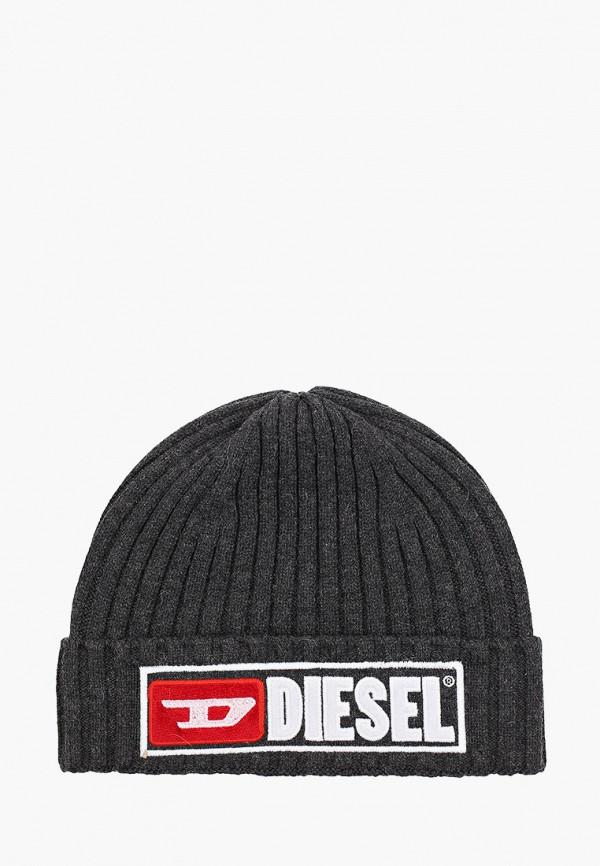 мужская шапка diesel, серая