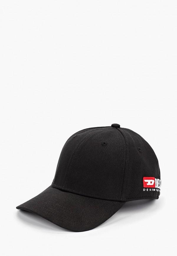 женская бейсболка diesel, черная