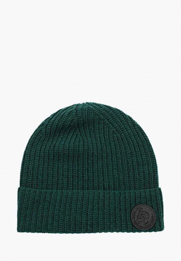 женская шапка diesel, зеленая