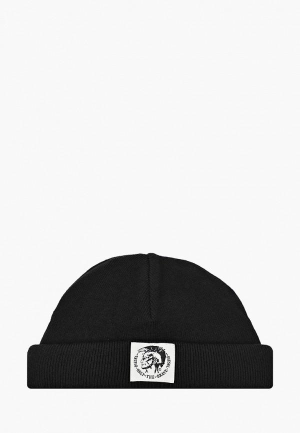 женская шапка diesel, черная