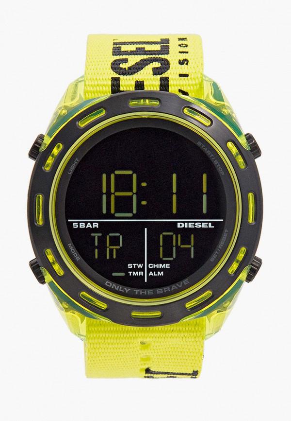 мужские часы diesel, желтые
