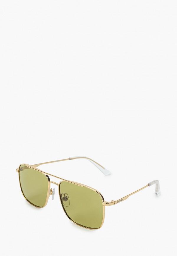 мужские солнцезащитные очки diesel, золотые