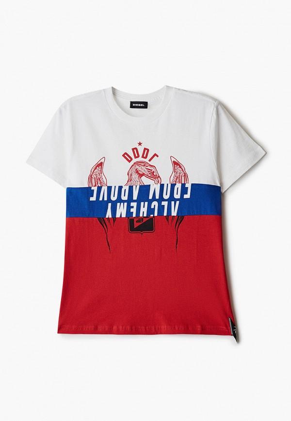 футболка с коротким рукавом diesel для мальчика, разноцветная