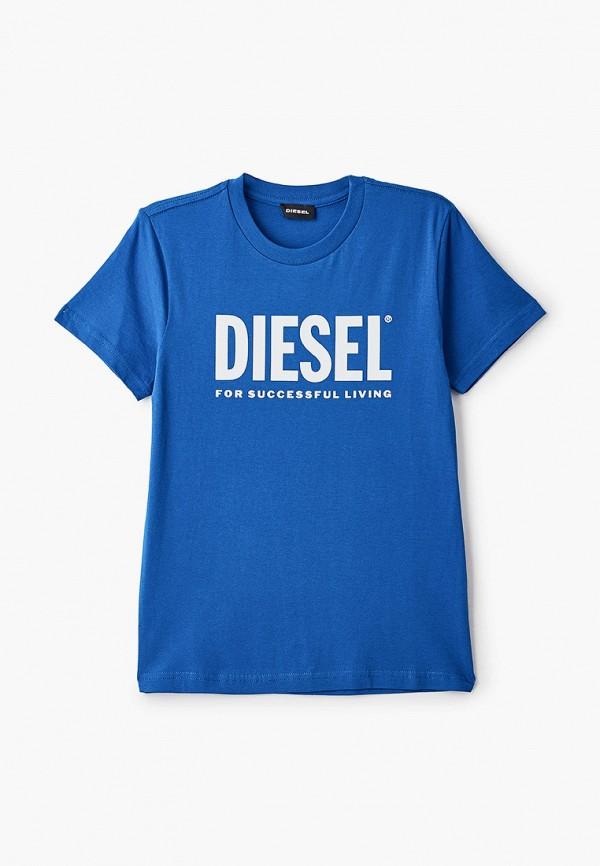 футболка с коротким рукавом diesel для мальчика, синяя
