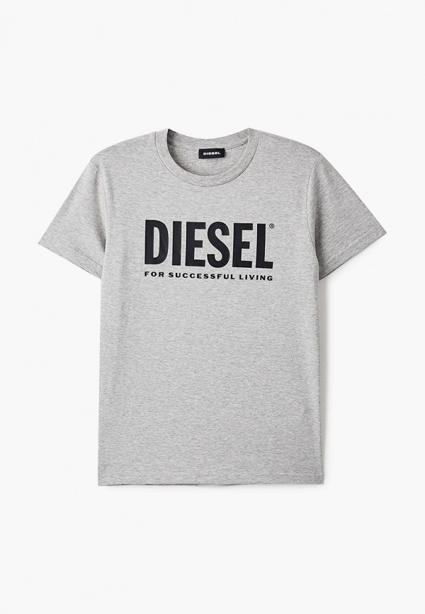 футболка с коротким рукавом diesel для мальчика, серая