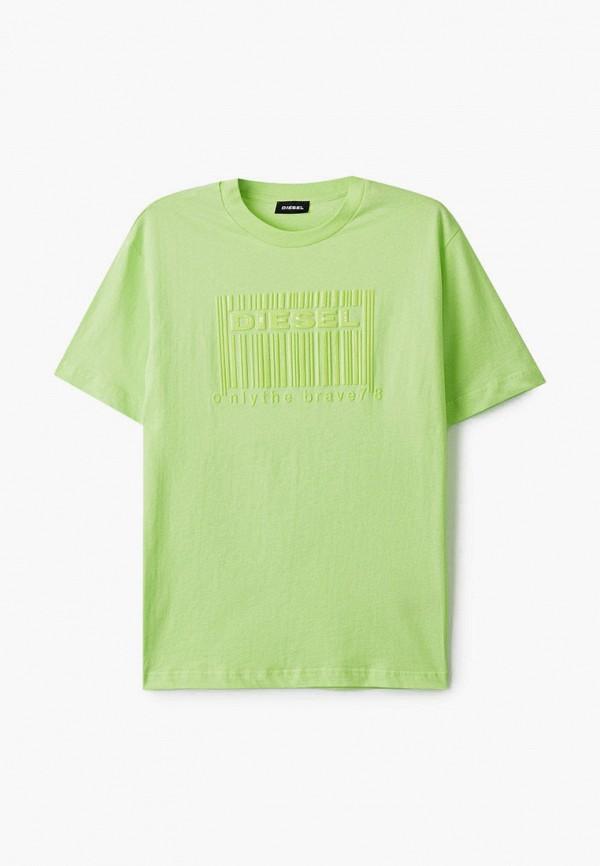 футболка с коротким рукавом diesel для мальчика, зеленая
