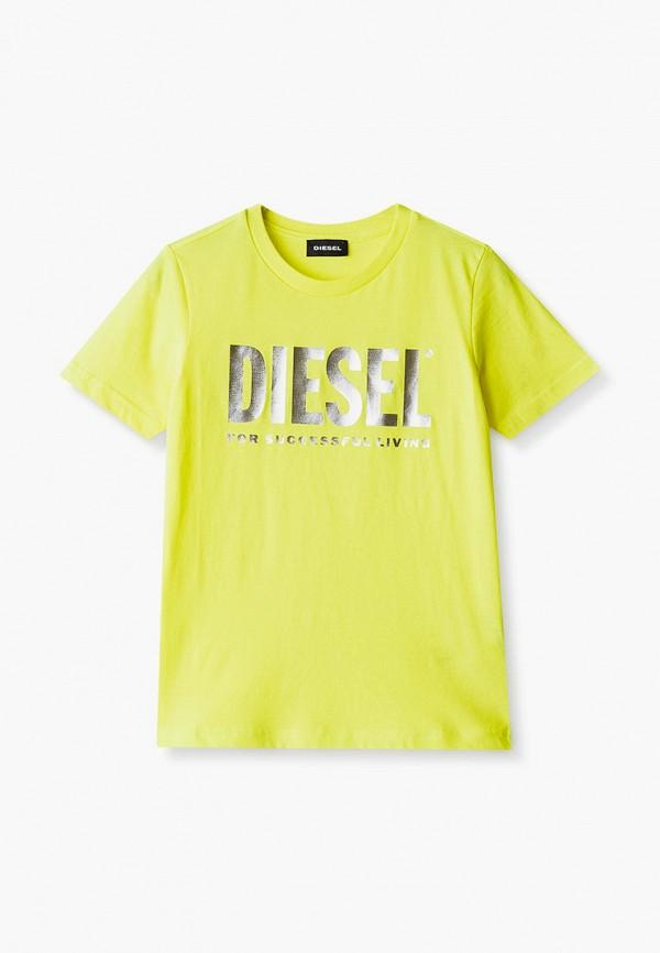футболка с коротким рукавом diesel для девочки, желтая