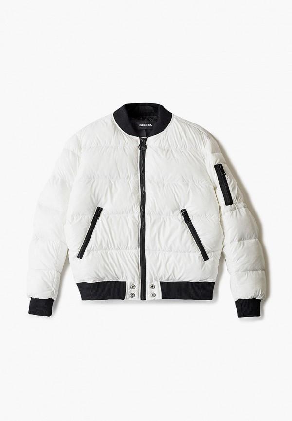 куртка diesel для девочки, белая