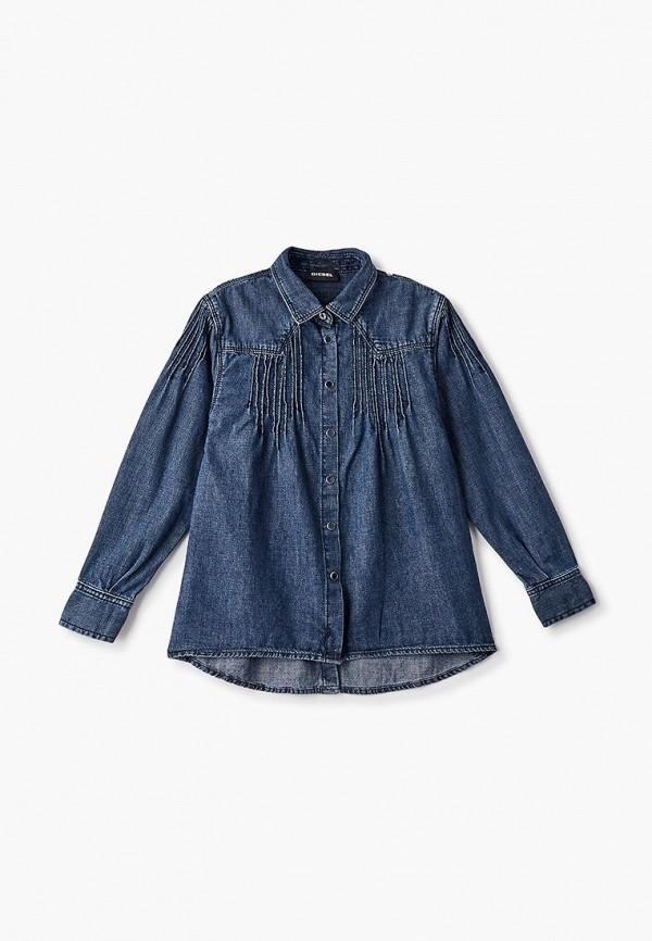рубашка diesel для девочки, синяя