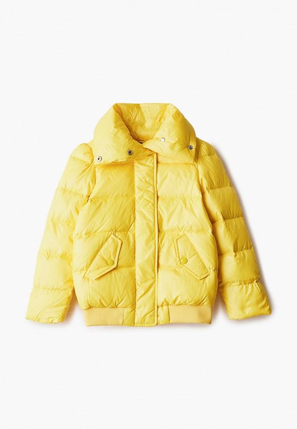 куртка diesel для девочки, желтая
