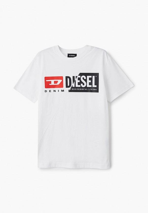 футболка с коротким рукавом diesel малыши, белая