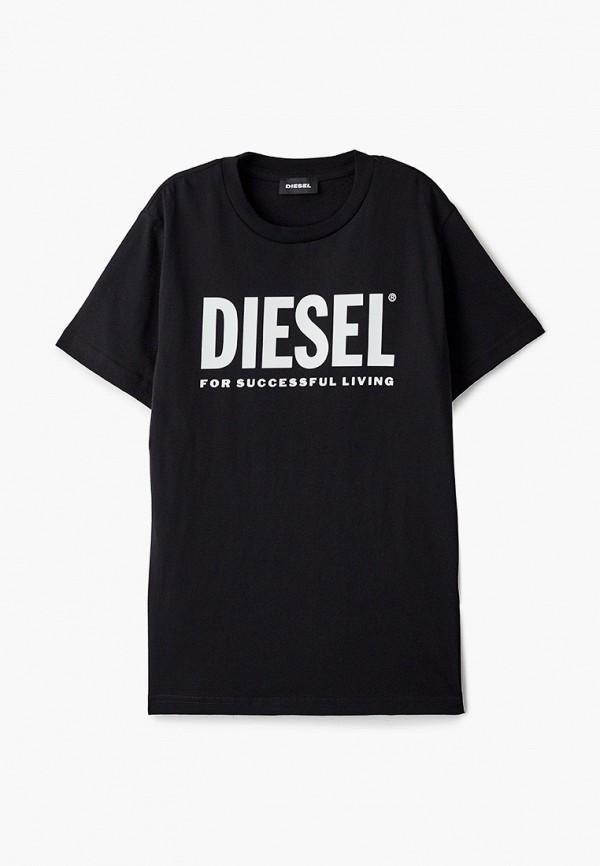 футболка с коротким рукавом diesel малыши, черная