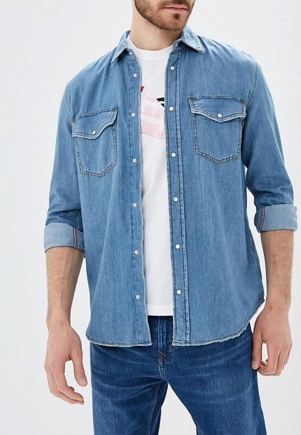 мужская джинсовые рубашка diesel, голубая