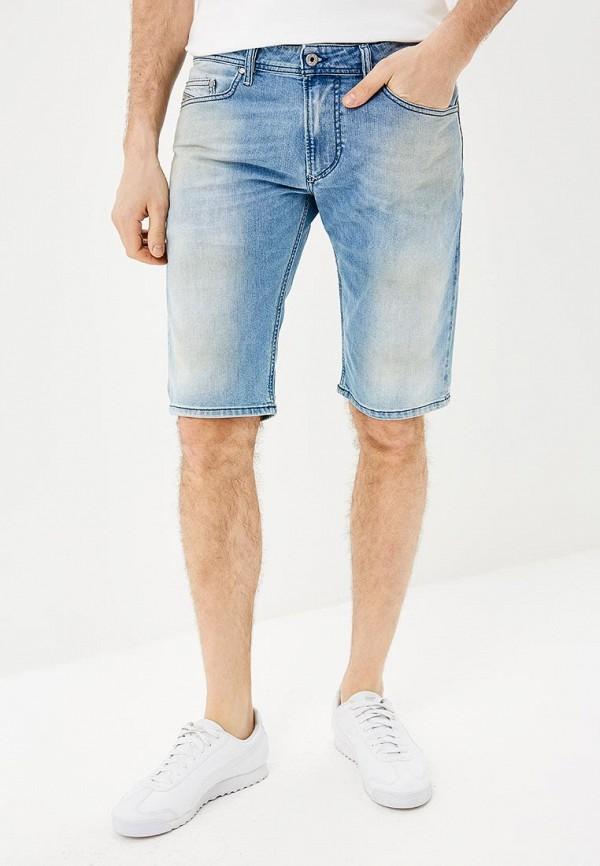 мужские джинсовые шорты diesel, голубые