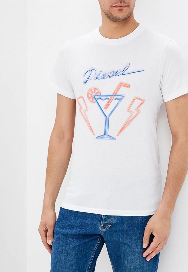Фото - мужскую футболку Diesel белого цвета