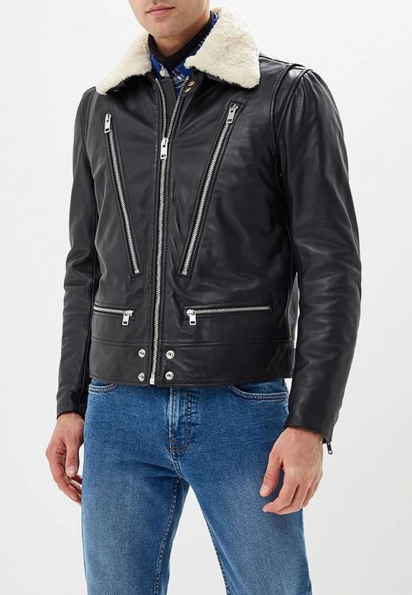 Купить Куртка кожаная Diesel, di303embvfp1, черный, Осень-зима 2018/2019