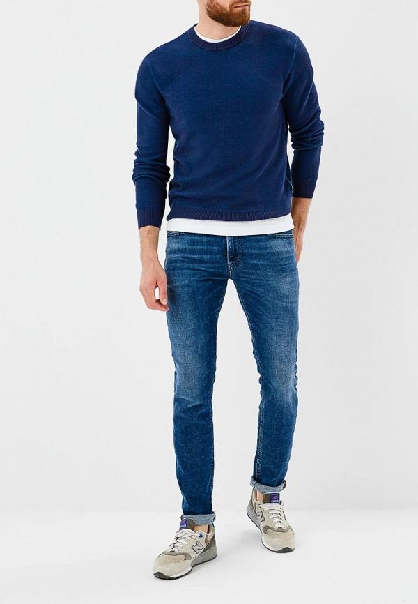Фото 2 - мужские джинсы Diesel синего цвета
