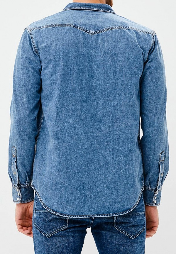 Фото 3 - мужскую рубашку Diesel голубого цвета