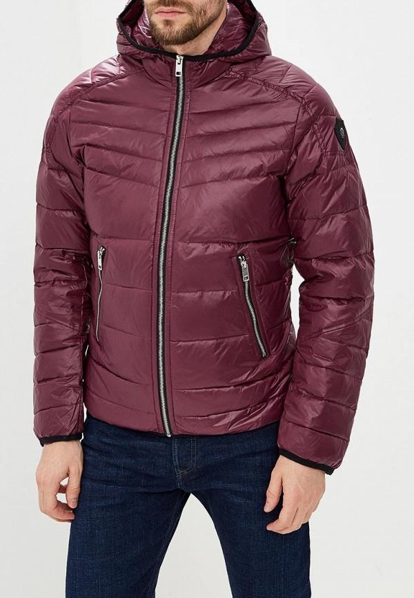 Мужская фиолетовая утепленная осенняя куртка