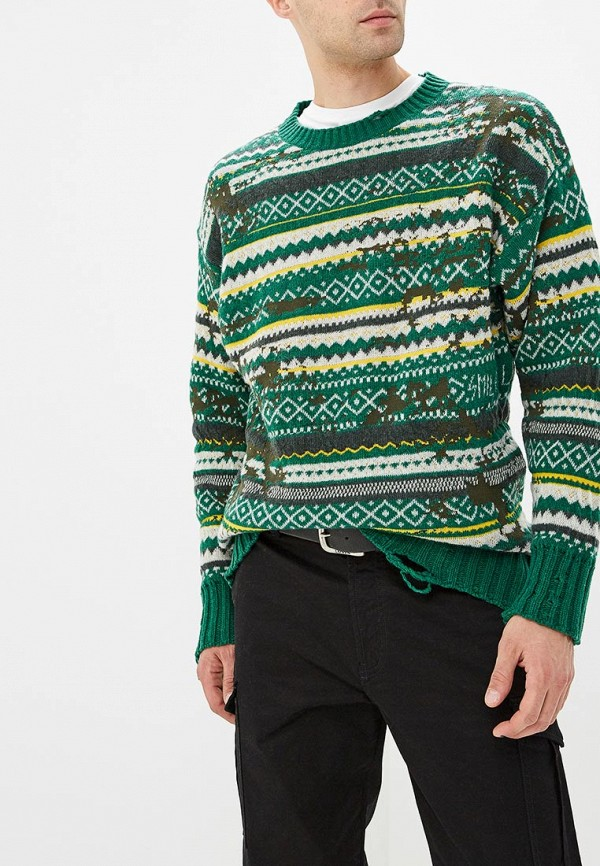 мужской свитер diesel, зеленый
