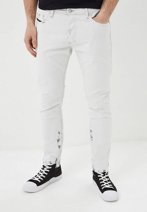 мужские зауженные джинсы diesel, белые