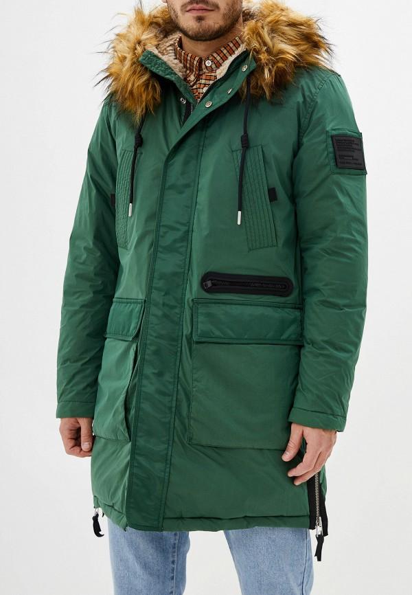 мужская утепленные куртка diesel, зеленая