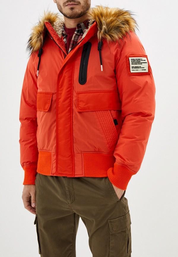 мужская утепленные куртка diesel, оранжевая