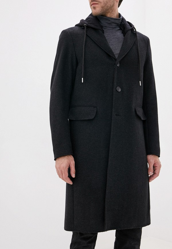 мужское пальто diesel, серое