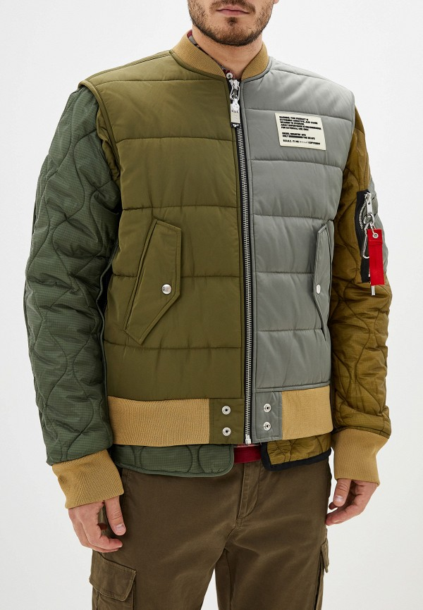 мужская утепленные куртка diesel, хаки