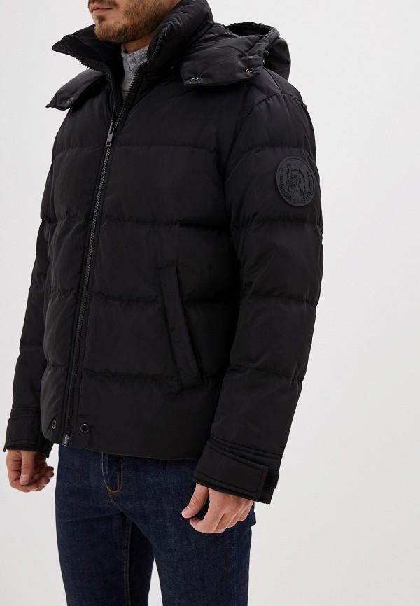 мужская утепленные куртка diesel, черная