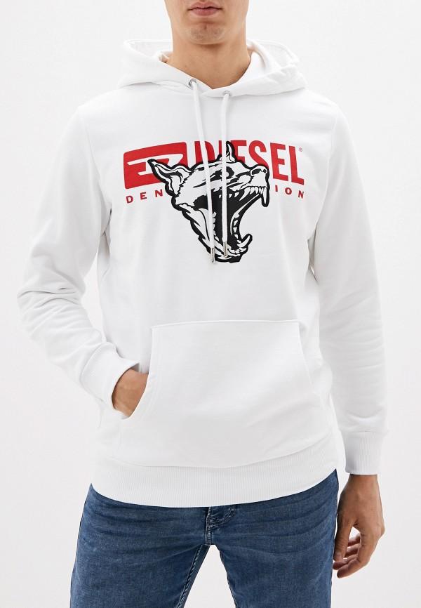 мужской свитшот diesel, белый