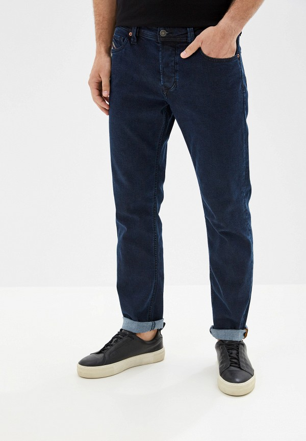 мужские зауженные джинсы diesel, синие