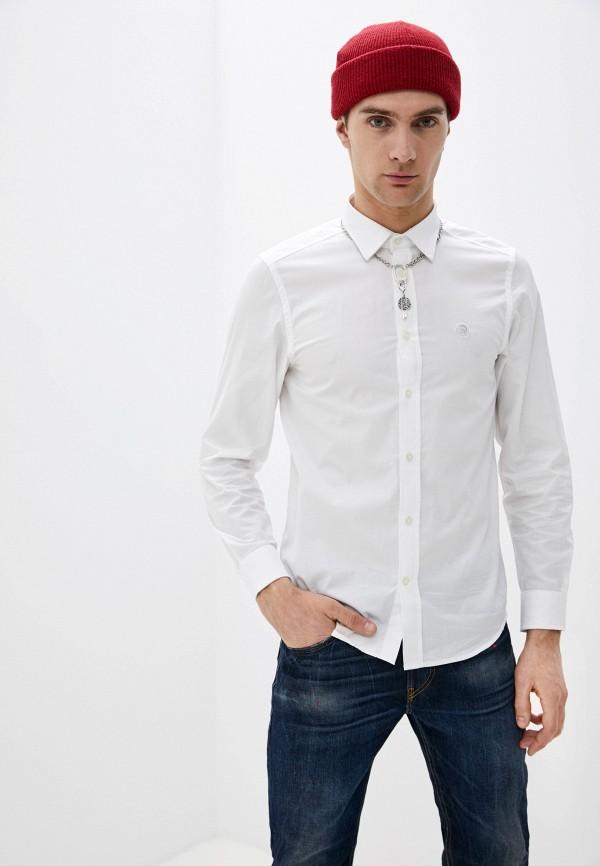 мужская рубашка с длинным рукавом diesel, белая