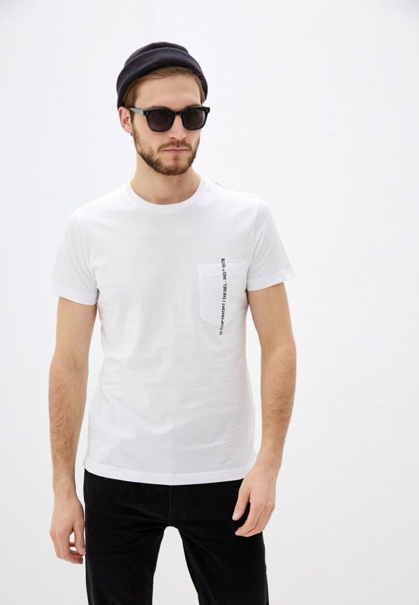 мужская футболка diesel, белая