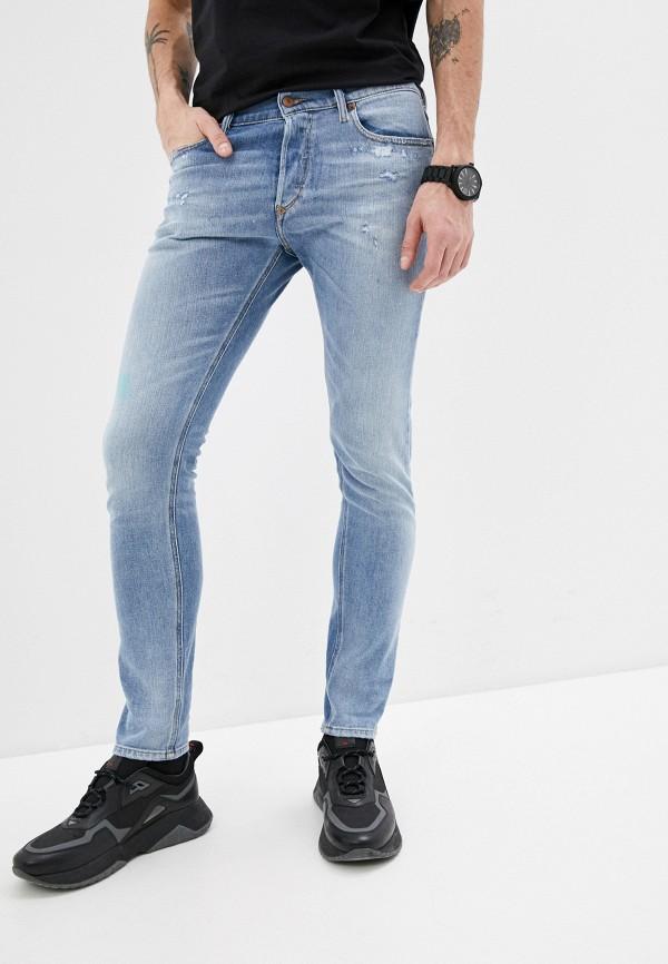 мужские зауженные джинсы diesel, голубые