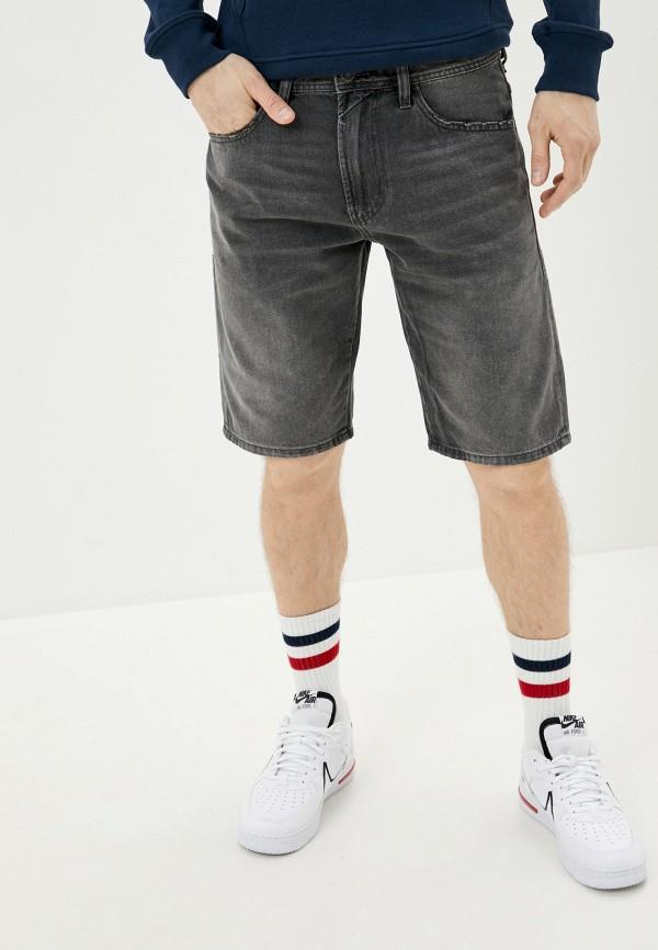 мужские джинсовые шорты diesel, серые