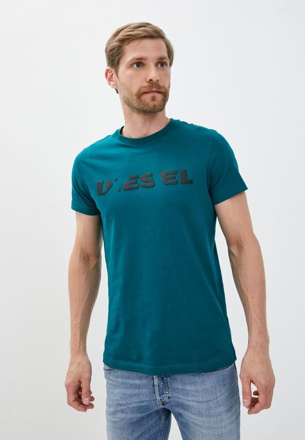 мужская футболка с коротким рукавом diesel, золотая