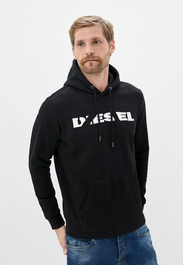 мужские худи diesel, черные