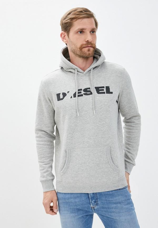 мужские худи diesel, серые
