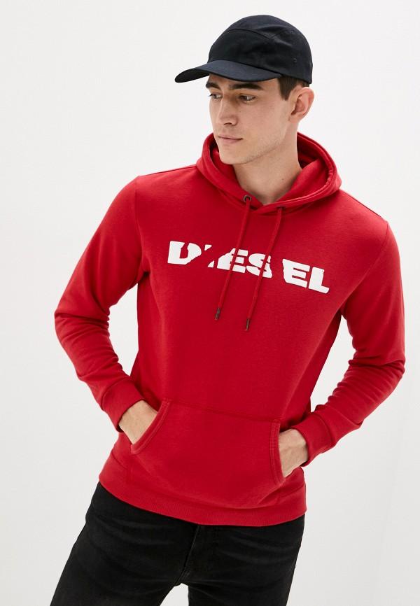 мужские худи diesel, красные