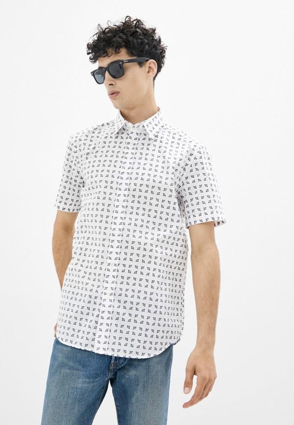 мужская рубашка с коротким рукавом diesel, белая