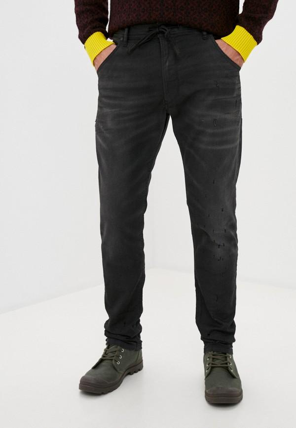 мужские прямые джинсы diesel, черные